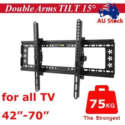 "42-70"" inch LCD LED Plasma TV XL Large Slim Tilt Wall Mount Bracket Up to 75kg G"