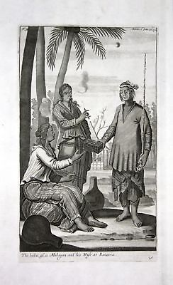 1730 Batavia Jakarta Java Indonesia costume Kupferstich engraving Churchill