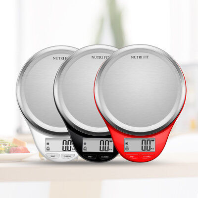 Digital Kitchen Food Scale Electronic Cooking Weighing Diet Measuring 5KG 11lb