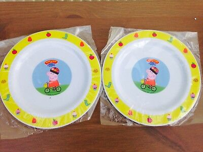 Set of 2 - Peppa pig Dinner plates & SET OF 2 - Peppa pig Dinner plates - £4.99 | PicClick UK