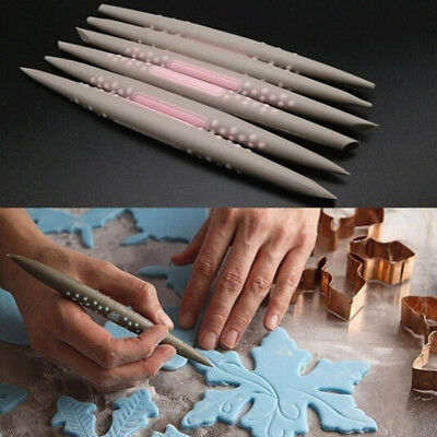 6x Silicone Rubber Clay Shaper Sculpting Fimo Polymer Modelling Pottery Tool