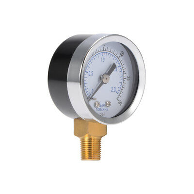 Pressure Gauge 40mm Dial Pneumatic Meter Air Manometer 0-2Bar 0-30PSI BI911