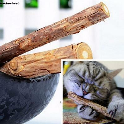 2pcs/Pack Pure Natural Catnip Pet Cat Snacks Sticks Cleaning Tooth Cat LL