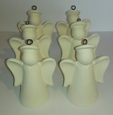 6 Ceramic Bisque Angels - Paint your own