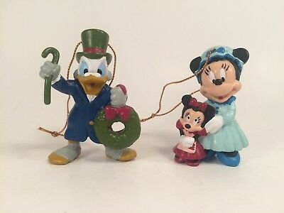 Vintage Avon Christmas Ornaments Disney's Minnie and Scrooge McDuck 1992