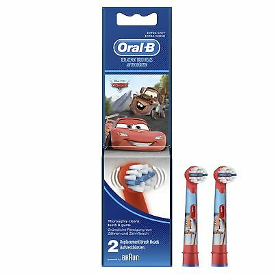 Oral-B Stages Kids Electric Toothbrush Replacement Heads - Disney Cars - 2 Pack
