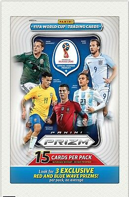2018 Panini Fifa World Cup Soccer Prizm Fat Pack Official Trading Cards Box