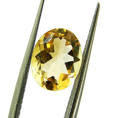 1.67 Ct Natural Yellow Citrine Loose Gemstone Oval Cut Stone - 5214