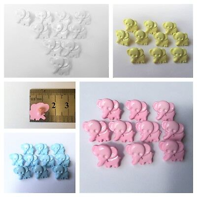 Elephant Baby Buttons Plastic with Shank x10 – Pastel Shades Baby Children Craft