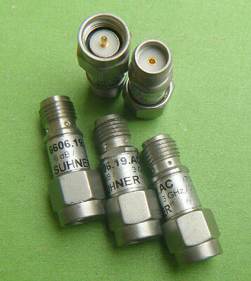Huber Suhner Attenuator 6606.19.ac, SMA 6 DB dc-2.2ghz [ Dorl _ A]