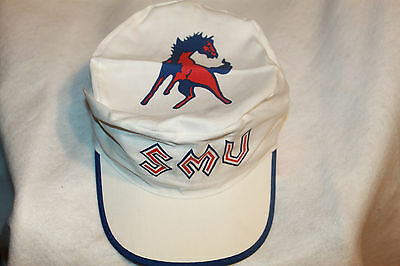 size 40 e5a53 0e3f7 SMU Mustangs Hat NCAA Painters Cap Vintage New Old Stock 1980s
