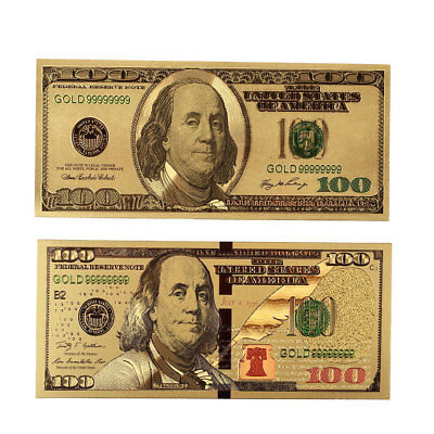 Realistic 2PCS/Set Banknotes Antique Plated High Quality Home Decoration