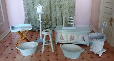 1:12 dollhouse miniature artisan hand decorated nursery furniture