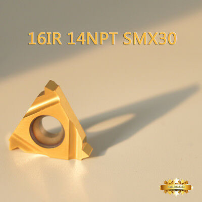 10* 16IR 14NPT SMX30 Carbide Insert For Threading Turning Tool Boring BAR CNC