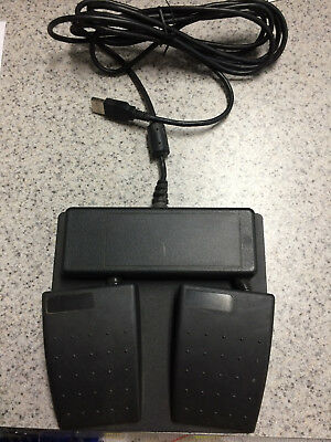 Kinesis FS22A-USB Joy Stick Button (JSB) dual foot switch angled Pedals, used.