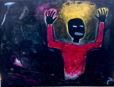 """Jean Michel Basquiat """"Untitled"""" HD print on canvas large wall picture 36x24"""""""