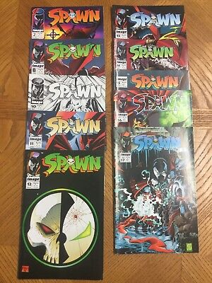 IMAGE COMICS SPAWN #2 #10 Plus 8 Others 1992 Todd McFarlane