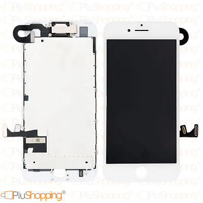 Display Lcd Touch Screen Iphone 7 Completo Fotocamera Altoparlante Frame Bianco