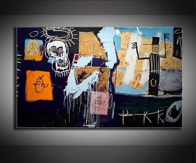 """Jean-Michel Basquiat /""""Untitled,1982/"""" HD print on canvas huge wall picture 24x24"""