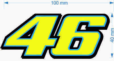 Valentino Rossi 46 Motorcycle Vinyl Decal Sticker 100mm 06