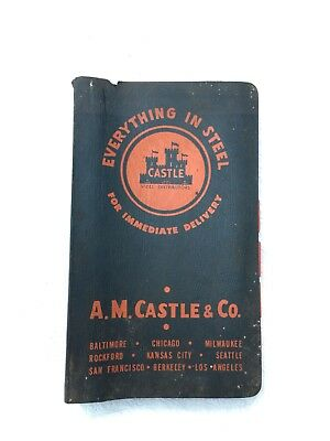 VTG A.M. Castle & Co Steel Stock & PRICE LIST Book Catalog Records Collector