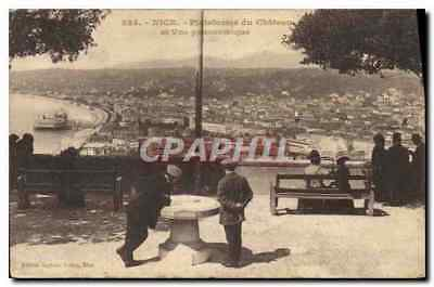 Vintage Postcard Nice Platform of the castle and panoramic sight