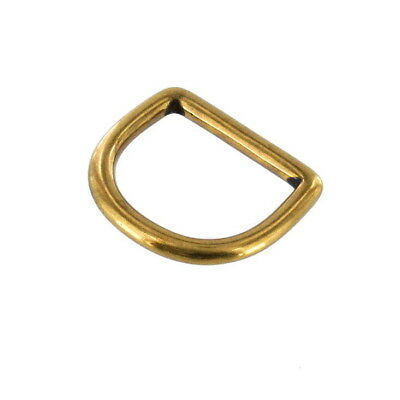 """(5x) 1"""" Solid Brass D-Rings"""