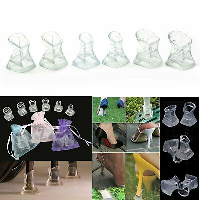 3 Pairs Wedding heels High Heel Stiletto Heel Stoppers & Protectors PVC heeler