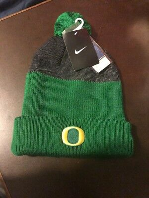 online store e5e4f cbf74 NWT Nike Oregon Ducks New Day Pom Beanie Cap Knit Hat Adult One Size