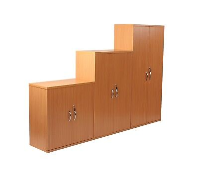 NEW Beech Lockable Cupboards 2 & 3 Shelf Available