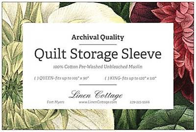 Archival Quality Quilt Storage Sleeve for Vintage and Treasured Quilts Cotton