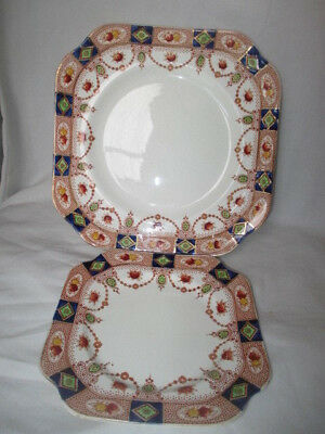 Old Arklow Pottery Cake & Side Plates (2). Made In Eire