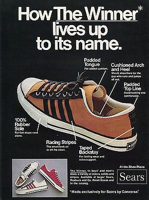 1972 Converse The Winner Lives Up To Its Name Sears Shoe Print Ad