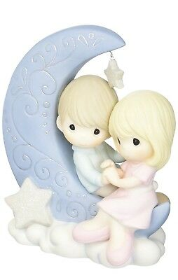 Precious Moments 152016 I Love You To The Moon & Back Bisque Porcelain Figurine