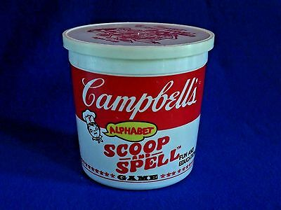Vintage CAMPBELL'S Alphabet SCOOP and SPELL GAME ~ Ages 6+
