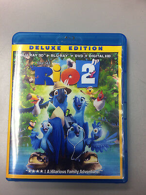 Rio 2 3D Blue Ray, Like New, with case and cover only