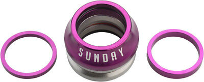 SUNDAY BMX BIKE CONICAL INTEGRATED BICYCLE HEADSET PURPLE ODYSSEY CULT PRIMO