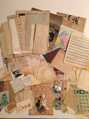 Junk Journal DIY Kit. 90+ Pieces
