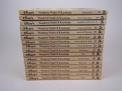 Vintage 1973 Disney Wonderful World of Knowledge Collection Nearly Complete