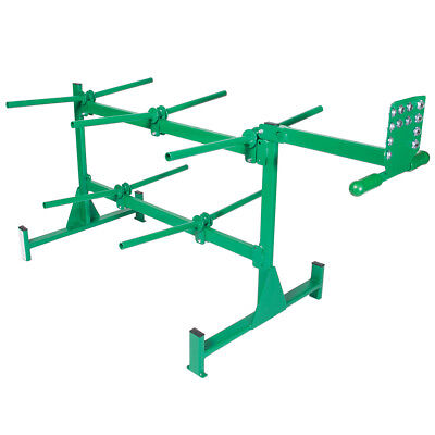 Greenlee 910 Heavy Duty Steel Wheeled Angled 10-Spindle Wire Dispenser Rack
