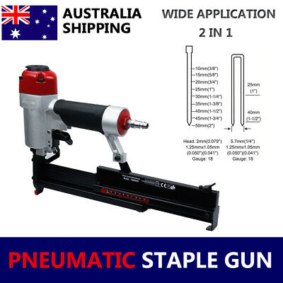 Heavy duty Furniture Pnuematic Brad Nailer Stapler gun UPHOLSTERY Air Nail Gun