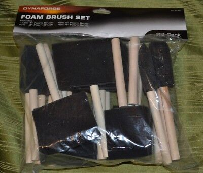 "Dynaforge 24 Piece Foam Brush Set - 1""-4"" Brushes - Craft, Paint"