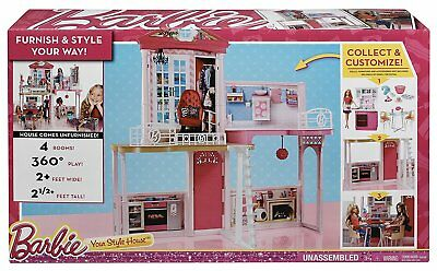 Brand New Mattel Barbie Your Style House Cfb64 Dollhouse