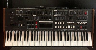 Teisco SX 210 Polyphonic Synthesiser 8 Voice Rare 1983 Kawai Serviced