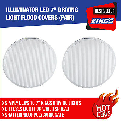 2x LED 7inch Driving Light Flood Covers Round Protect 4WD 4x4