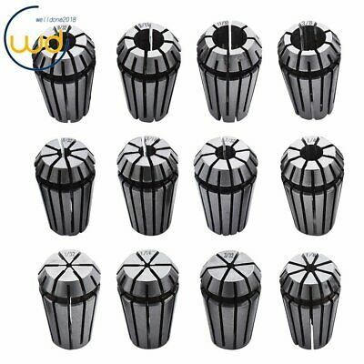 ER-16 12PCS Spring Collet Set 1/32 - 3/8 CNC Super Precision 3/32 7/32 11/32 USA