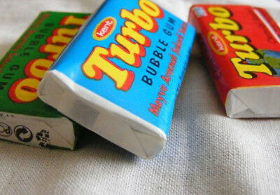 Turbo original chewing gum with peach flavor - !Not opened! - All 5 colors