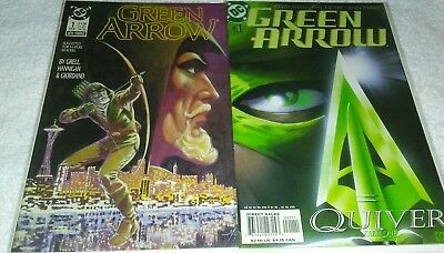 Green Arrow #1 (1988) VF 8.0 & Green Arrow #1 (2001) VF/NM 9.0 ( DC Comics)