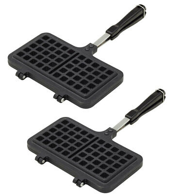 2x Davis & Waddell Kitchen Waffle Pan/Breakfast Maker/Gas/Electric Stove Cooktop
