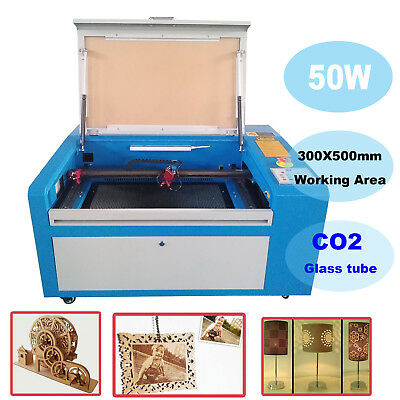 50W CO2 Laser Engraver Cutter Machine USB Up Down Table